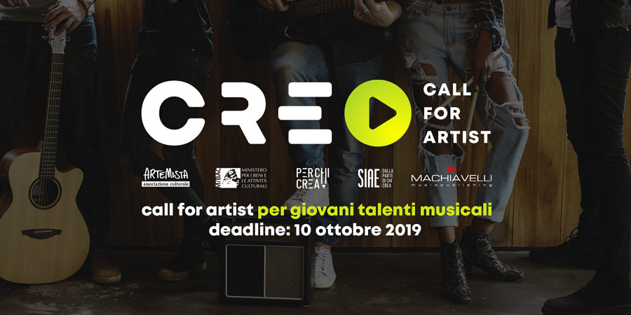 c r e o la call for artist promossa da machiavelli